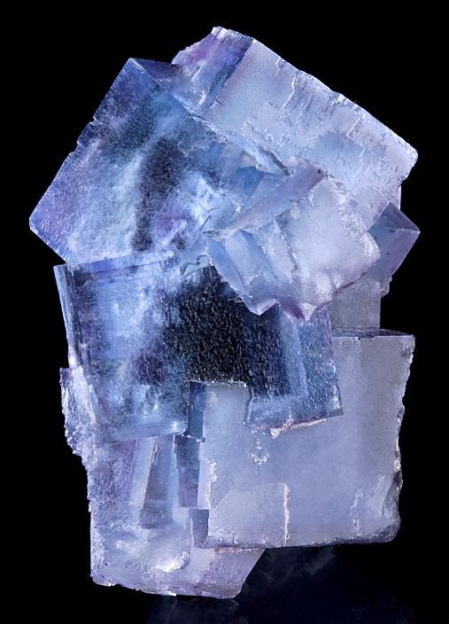blue Fluorite cubes with faint purple interiors and accents!