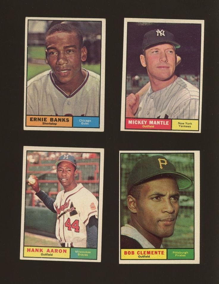 1961 topps baseball complete set 589 w clemente aaron