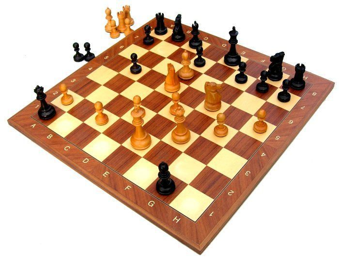Chess is a two-player, abstract strategy board game that represents medieval warfare on an 8x8 board with alternating light and dark squares. Chess is one of the most popular games in the world, played by millions of people worldwide at home, in clubs, online, by correspondence, and in tournaments. Between two highly skilled players, chess can be a beautiful thing to watch.