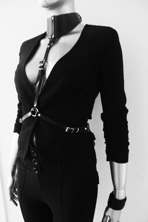 leather harness choker harness women body harnes leather harness belt leather accessories gothic halloween costume dominatrix steampunk