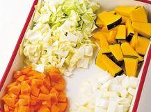 とにかく簡単!味つけなしが基本です「ハーバード大学式野菜スープ」のレシピです。プロの料理家・井口美穂さんによる、にんじん、玉ねぎ、キャベツ、かぼちゃなどを使った、192Kcalの料理レシピです。