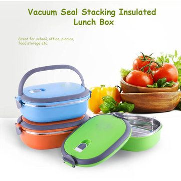 Stainless Steel Double-layer Insulation Lunch Box Sealed Leak-proof  Portable Dinnerware Sets Cheap - NewChic Mobile.