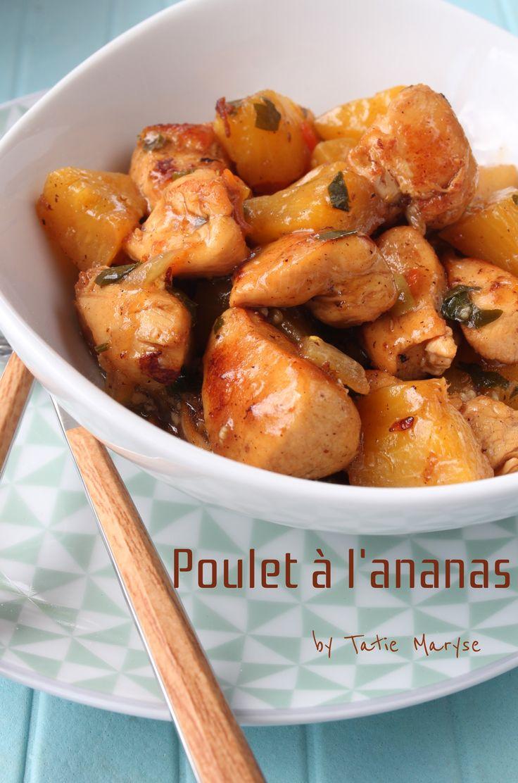 Gourmandise et saveurs sont présents dans ce poulet à l'ananas très apprécié des amateurs de sucré-salé. Une recette facile à la sauce créole.