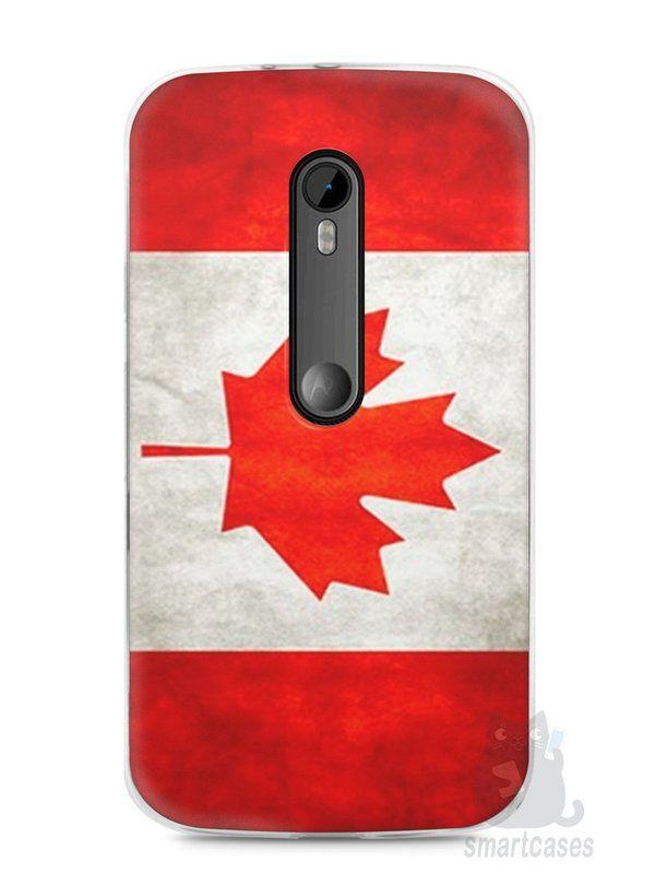 Capa Moto G3 Bandeira do Canadá - SmartCases - Acessórios para celulares e tablets :)