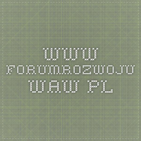 www.forumrozwoju.waw.pl