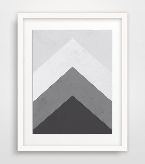 Geometric Print Printable Art Mountain Print by MelindaWoodDesigns #Geometricprints