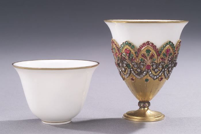 What Is A Zarf? An Ottoman Coffee cup & holder. A Zarf is a cup holder for a cup with no handles. They come in two varieties. One like this which is most often found in the Middle East. And a second variety most often made of silver, with a small handle which holds a glass cup, more often found in Russia. The holder is called a Zarf.