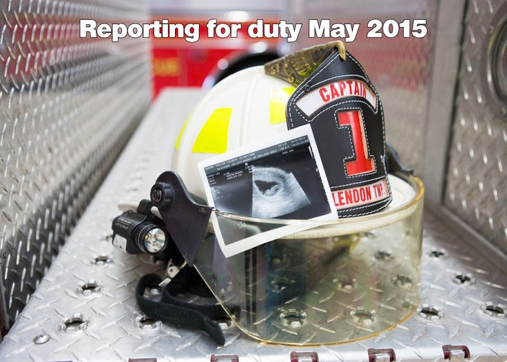 Cute firefighter baby announcement!                              …