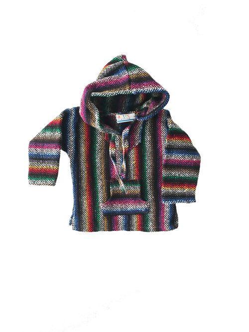 Kids Mexican Baja Jumper / Sweater - Black