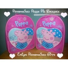 Lovely and Personalised Peppa Pig backpack £9.50 plus p+p (Personalised with fabric paint and covered in a fixing solution)