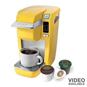 Keurig K10 Mini Plus Personal Coffee Brewer Keurig Mini Yellow Coffee Keurig