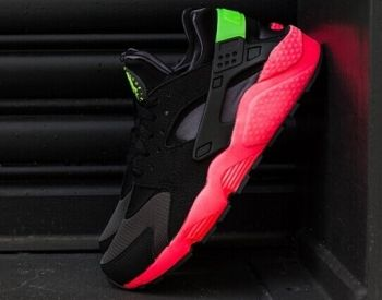 timeless design 2e82b 4b06b Official Nike Air Huarache Hyper Punch Black Challenge Red Poison Green