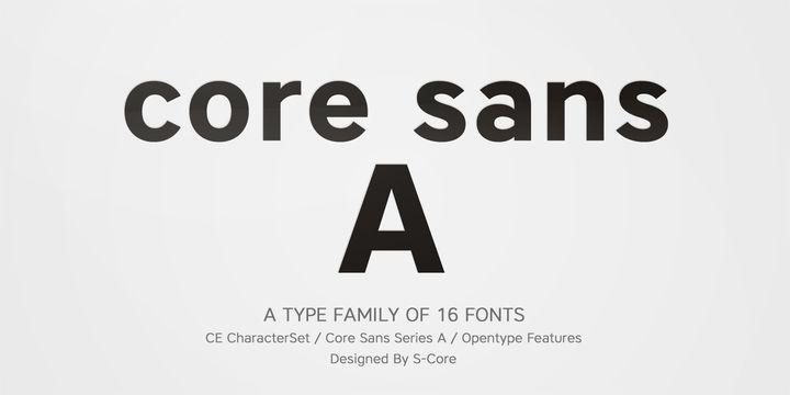 Core Sans A