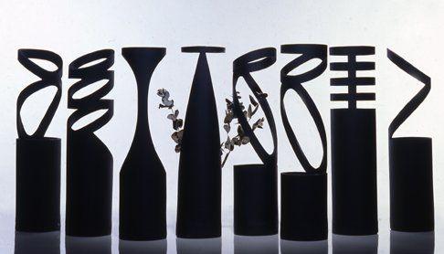 Flower Vases Designed by Giovanni D'Ambrosio are the Neri Flower Vases.