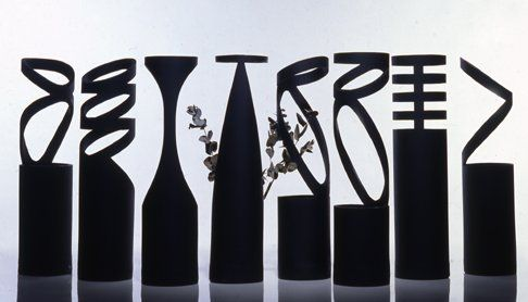 Flower Vases Designed by Giovanni D'Ambrosio are the Neri Flower Vases.
