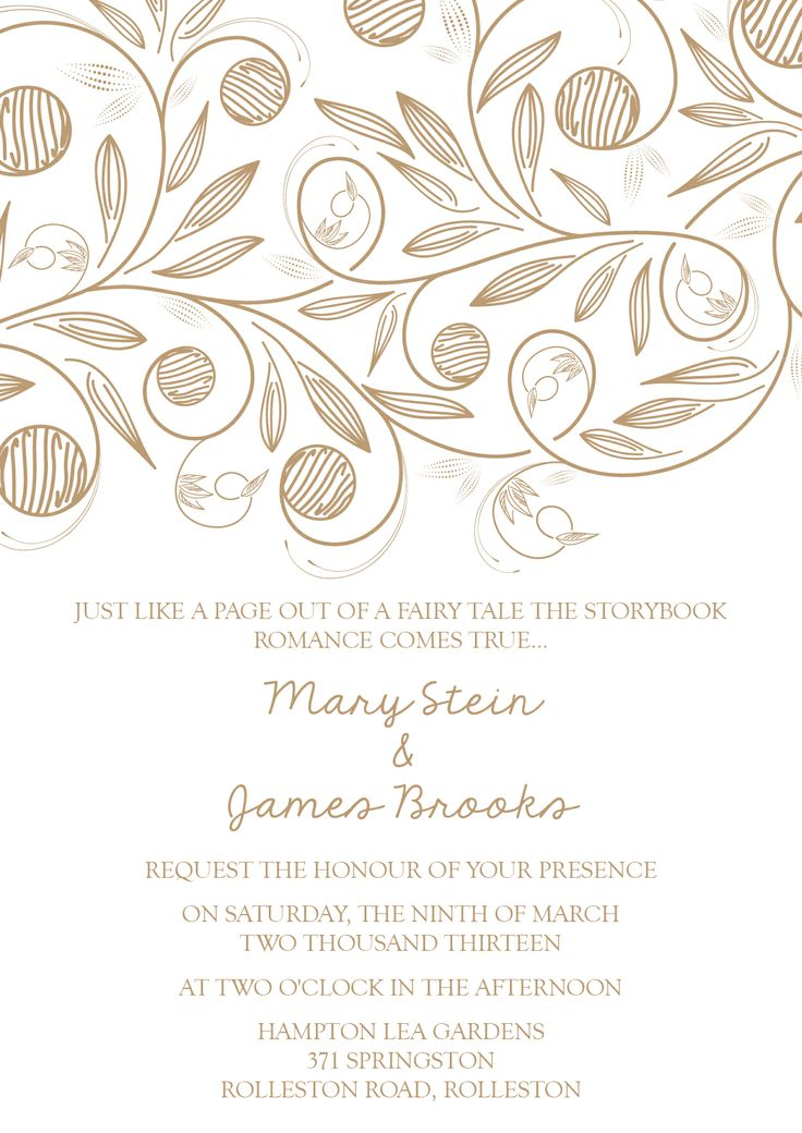 Mary & James' Invite - www.chicdesign.co.nz