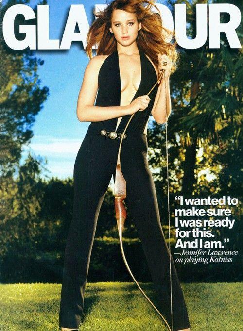 Jennifer Lawrence joue la carte de la provocation pour le magazine Glamour, en vue de mousser la sortie du film The Hunger Games (23 mars, on a hâte!!).