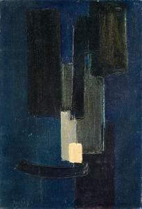 Pierre Soulages - Peinture 58 X 40 Cm, Septembre 1951
