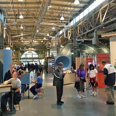 people at the exploratorium in san francisco