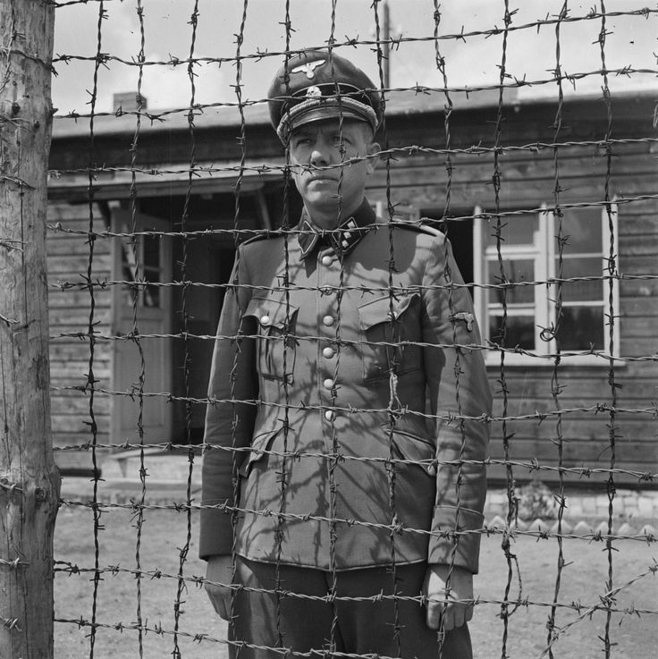 "The former commandant of the Amersfoort concentration camp Untersturmführer SS Karl-Peter Berg shortly after his arrest in 1945. Particularly cruel toward Russian POWs and Jews, Berg was known for personally participating in prisoner executions for ""fun."" In 1948, he was put to trial and found guilty. He was shot in the Dutch town of Weesperkarspel on November 22, 1949."
