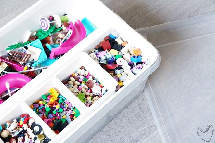 SmartStore inserts for storage boxes keep small items in place