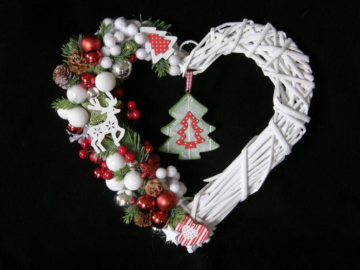 Christmas Door Decoration Heart  Türkranz Weihnachten Deko Herz