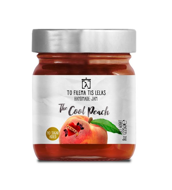 TO FILEMA TIS LELAS - HANDMADE PEACH JAM