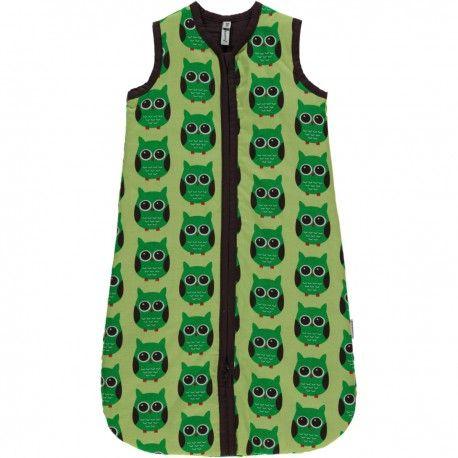 Sleeping bag, sleeper, owl green, Maxomorra