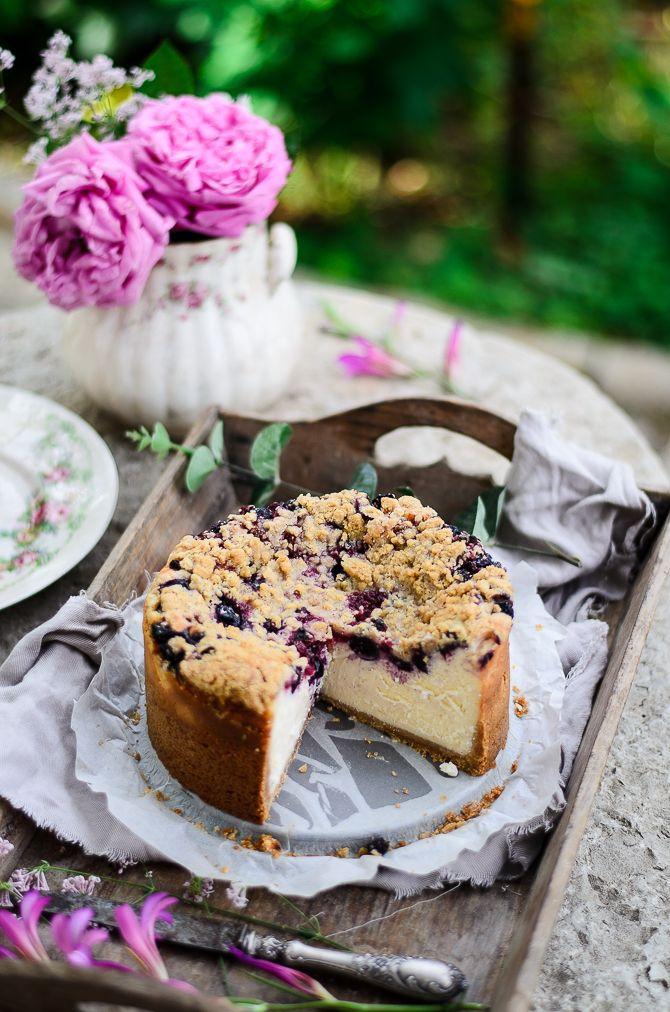 Coco e Baunilha: Cheesecake streusel de aveia e frutos silvestres // Berry oat streusel cheesecake
