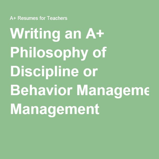 behavior management philosophy Behaviour management strategies from bill rogers without doubt the greatest personal challenge i've faced as a teacher was moving from the sixth form no contest, from all the cpd i've ever engaged with, these videos have had by far the greatest influence on me and my philosophy of teaching.