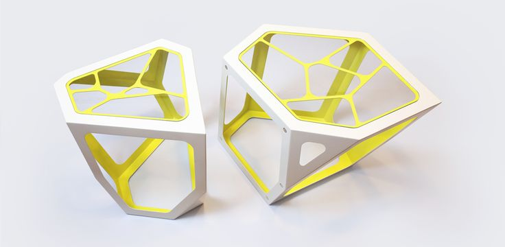 Simplexio Primo coffee table white & yellow