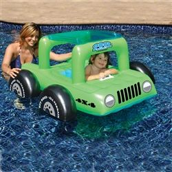 I must have it.   jeep baby water toddler float pool river inflatable wrangler green kid child boy girl
