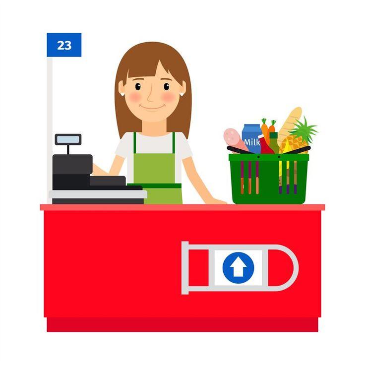 Cashier lady at her workplace by smartstartstocker