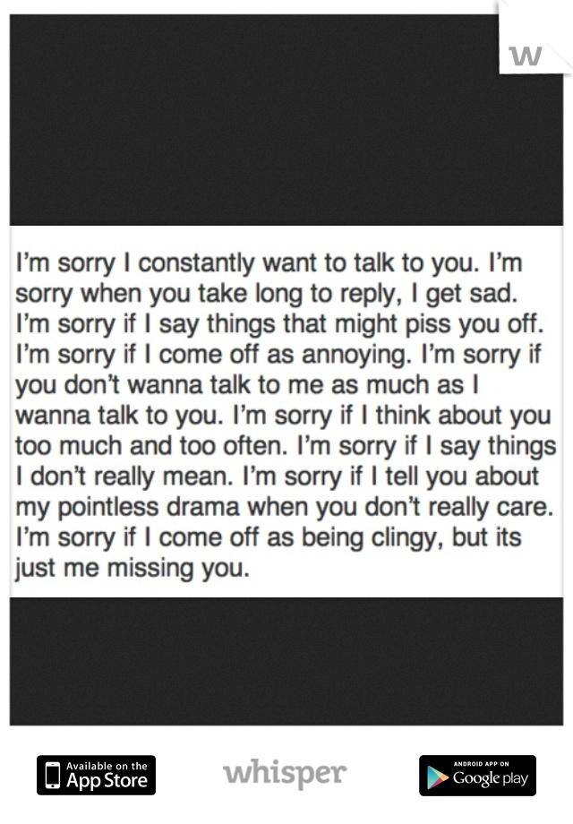 I'm Sorry I Miss You