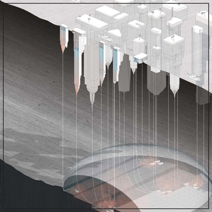 """""""Below the Water Towers"""" from the """"Pacific Aquarium"""" project for the Oslo Architecture Triennale. Credit: DESIGN EARTH"""