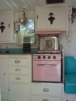 Vintage Shasta trailer interior