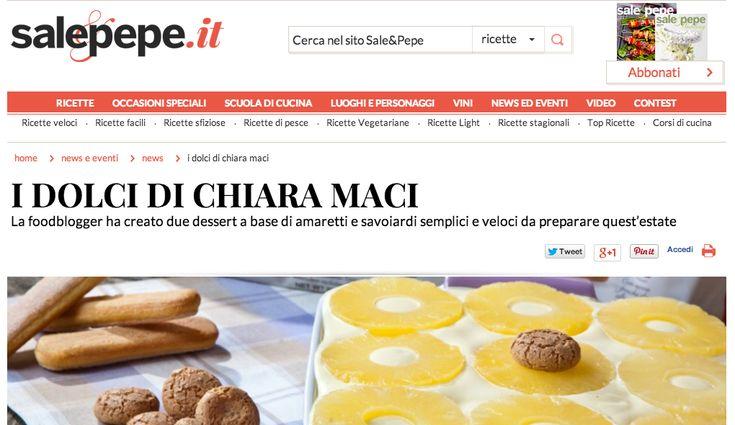 Il Tiramisu all'Ananas inventato da Chiara Maci a Verona insieme a noi ... su Sale & Pepe ! - MatildeTiramiSu!