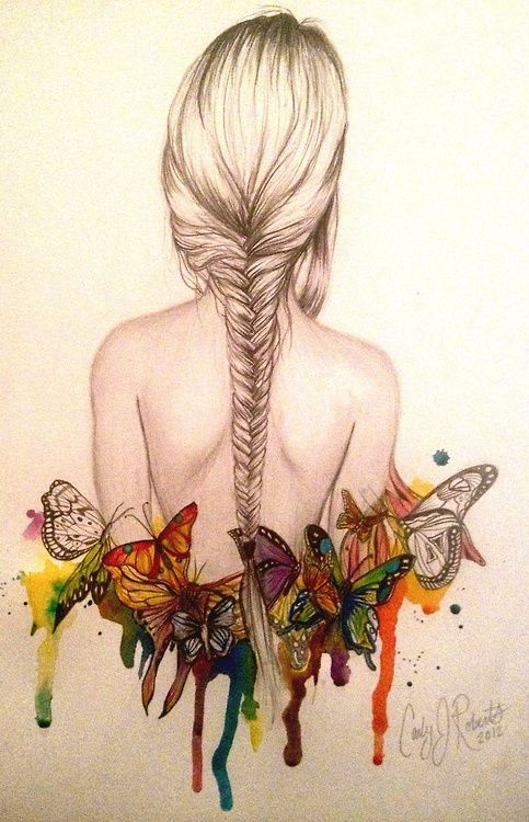 braid and butterflys