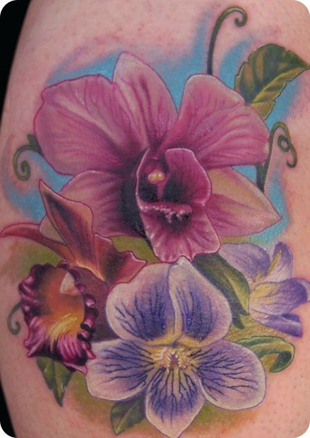 Beautiful floral piece by John Eayne #tattoo #ink  #provestra