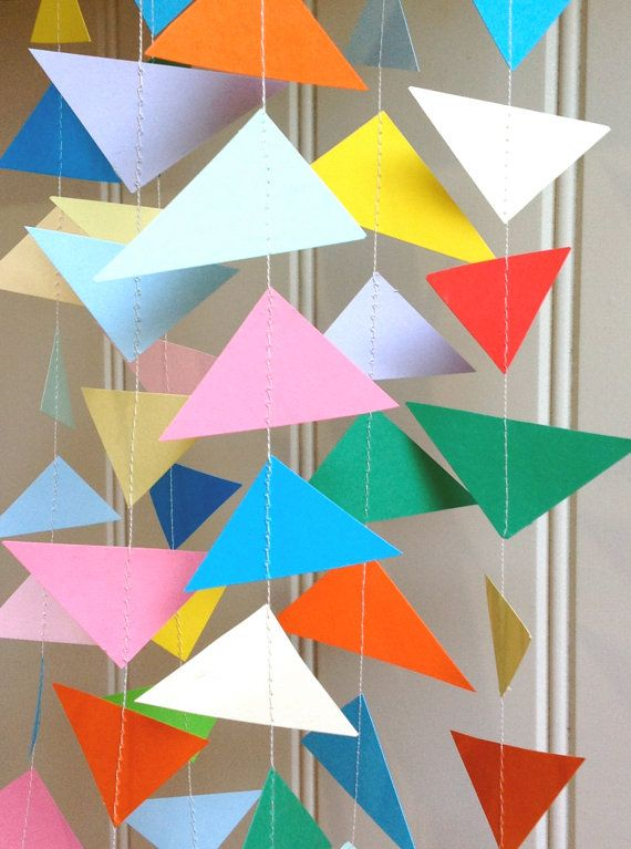 KITE   Paper Garland 12 Feet by MaisyandAlice on Etsy.