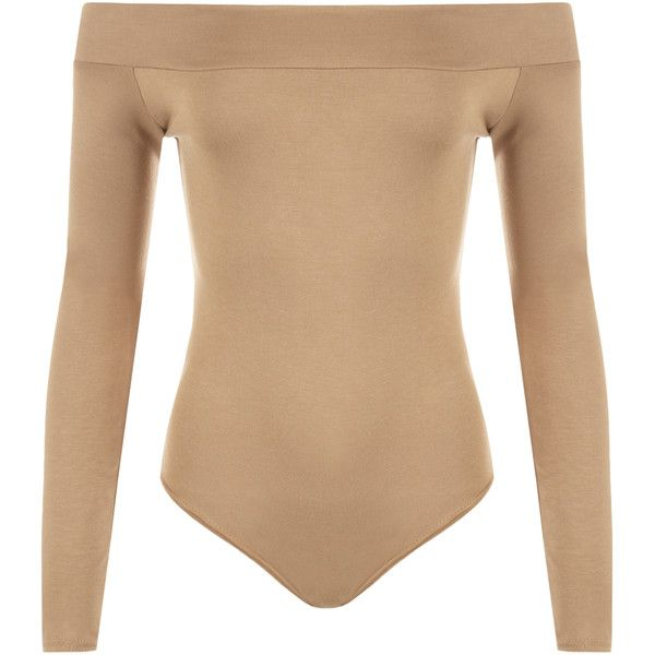 2a4c4d9dc1 Abbigail Off Shoulder Bodysuit Leotard ( 16) ❤ liked on Polyvore featuring  tops