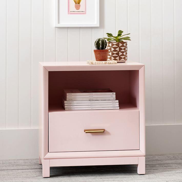 Rowan Nightstand Girl Bedside Table Home Decor Bedroom Pink