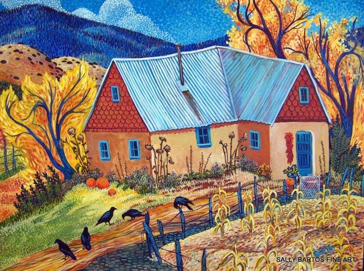 sally bartos artist-來自新墨西哥的女藝術家 , 靈感來自她家庭住所的美妙地區 ,美麗和輝煌的彩色藝術。。 。 - ☆平平.淡淡.也是真☆  - ☆☆milk 平平。淡淡。也是真 ☆☆