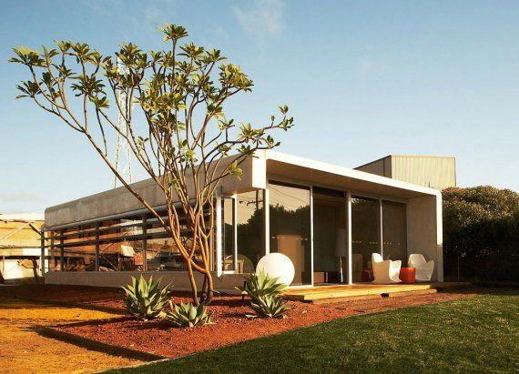 The PerrinePod is a modular stackable prefab home designed by the Perth, Australia based architect Jean-mic Perrine.