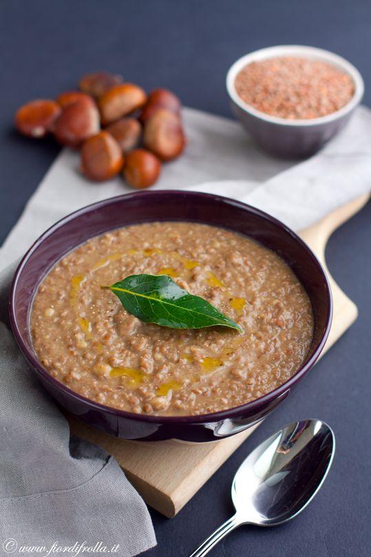 Zuppa di lenticchie di Ustica e castagne con salsiccia