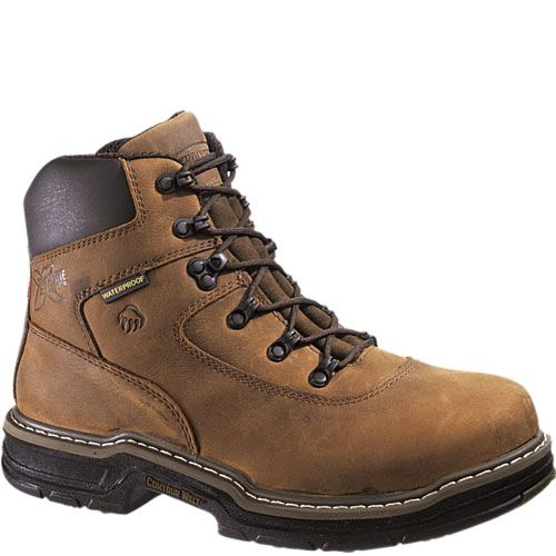 Men's Wolverine 400 grams of Thinsulate Ultra Insulation Marauder MultiShox  Waterproof Steel Toe Boots Brown, BROWN,