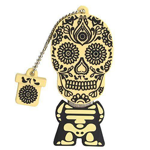 Sunworld Skull Clé USB 3.0 16 Go Clef USB Flash Drive Horreur Crâne Cadeau de Noël: Cles USB 3.0 16Go haute vitesse. Jusqu'à 10 fois plus…