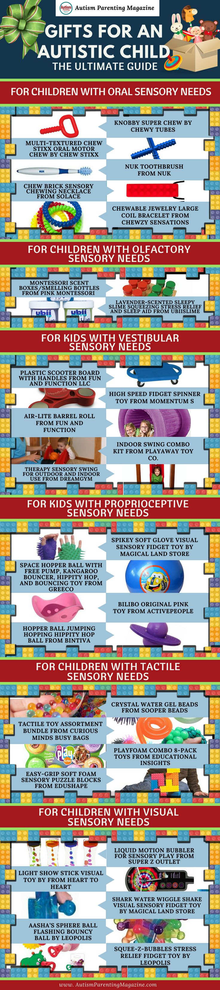 """Finding """"just the right gift"""" for a child with autism spectrum disorder (ASD) is not always a simple task. Due to the various sensitivities and needs that many children with autism may have, it's important to carefully consider what kinds of gifts are a good fit."""