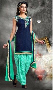 Navy Blue Color Chanderi Silk Straight Cut Readymade Punjabi Patiyala Suit | FH512878077 #punjabi , #patiyala, #shindhi, #suits, #narrow, #dresses, #salwar, #kameez, #straight, #long, #heenastyle, #indian, #online, #shopping, #clothing, #womens, #girls, #style, #mode, #henna, #hina, #mehendi, #dupatta, #chudidar, @heenastyle , #pakistani, #readymade