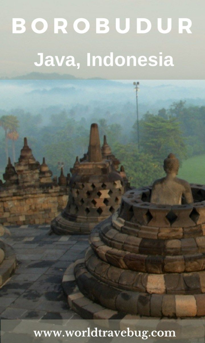 Seen from the air, Borobudur looks like a mandala, a representation of the cosmos. Viewed from he ground but from afar, the temple has the shape of a stupa.